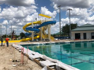 DEC Contracting Group constructed a 177-foot open waterslide and its companion, a 122-foot closed water slide.