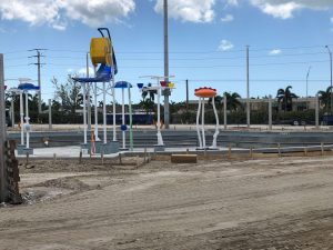 DEC Contracting Group designed this children's activity pool with water features for the Eagle Lakes Aquatic Center