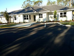 Exterior, front view of DEC Contracting Group's construction of this award-winning group home for Youth Haven of Southwest Florida.