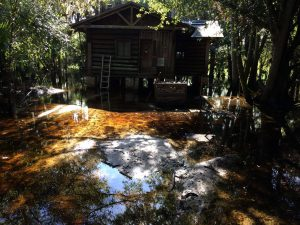 DEC Contracting Group rescued this flooded cabin at Myakka State Park.