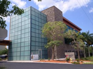 Exterior view of the Collier County Supervisor of Elections building, renovated by DEC Contracting Group.